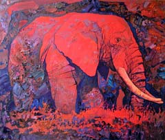 A Red Elephant